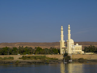 Mosque on the Banks of the River Nile in Egypt