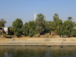 View of the Banks of the River Nile in Egypt