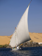 Felucca on River Nile Egypt