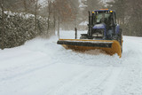 Fototapety Snow plow cleaning street