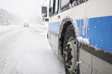 Montreal City Bus in a Blizzard