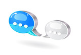 colorful bubble chat icon