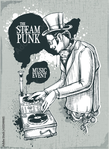 Steampunk musical poster