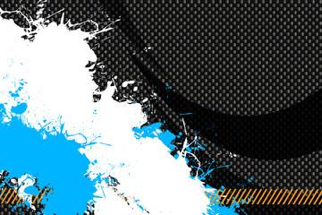 Carbon Fiber Splattered Paint Layout