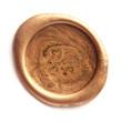Leinwandbild Motiv Gold wax seal