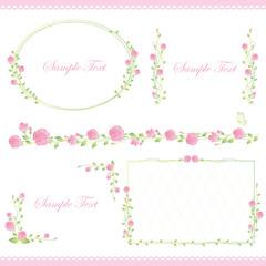 set of rose frame