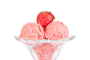 Delicious strawberry ice cream