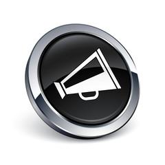 icône bouton internet mégaphone porte-voix