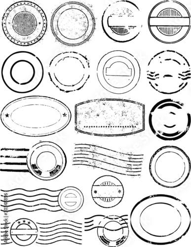 postmark vector elements - 30348896