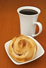 Flaky Chinese Pastry with Coffee