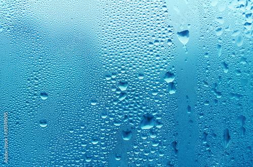 Leinwandbild Motiv blue water drop texture