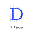 Logo design letter D # Vector