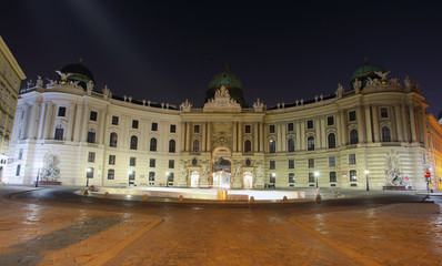 Imperial Palace at night - Vienna, Austria