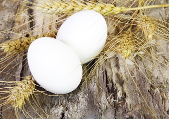 Easter Eggs and Wheat Ears