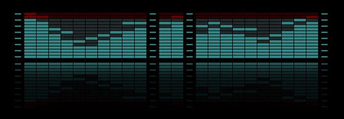 Graphic equalizer with reflection