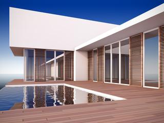 Modern house in minimalist style.