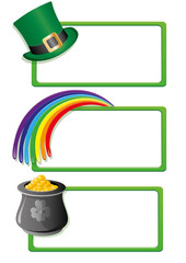 Set of St. Patrick`s day banners, part 2, vector illustration