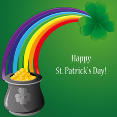 Background with clovers for St.Patrick`s day, vector