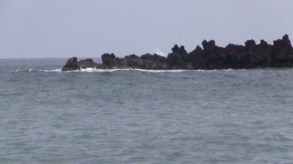 Coastal Rocks on the Ocean Horizon