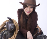 Cowgirl Candid 2 poster
