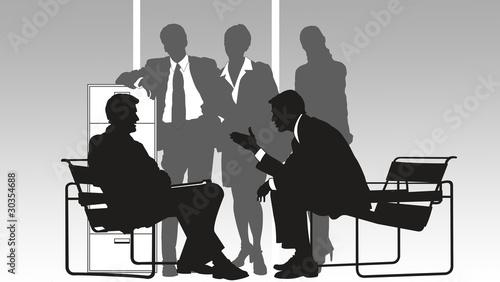 Grupo de personas trabajando en la oficina