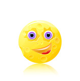 round cheese with eyes and smile icon