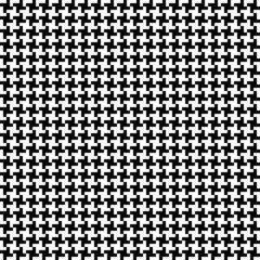 Seamless Hound´s-Tooth Check Pattern Black/White