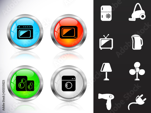 Web metal buttons