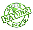 """Made In Nature"" Label"