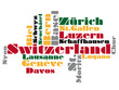 abstract vector map of switzerland
