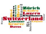 abstract vector map of switzerland