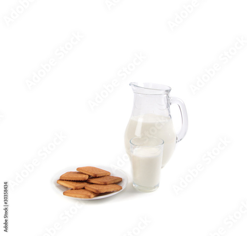 Milk and Cookies isolated