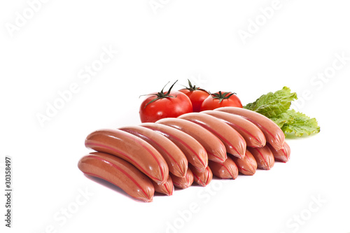 sausages with tomato and salad