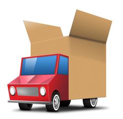paketauto paket versand lkw truck post paketdienst