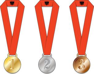 albania albany medaglia medaglie