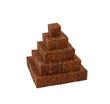 Pyramid made of sugar cubes