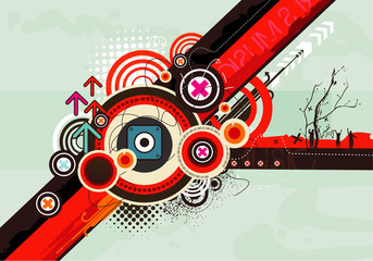 abstract vector composition illustration