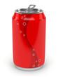 canvas print picture - Canette de soda sur fond blanc 2