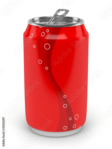 canvas print picture Canette de soda sur fond blanc 2