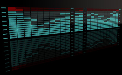 Graphic equalizer with reflection 2