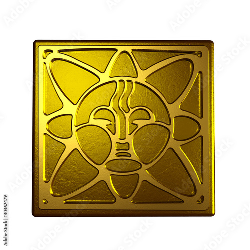 Symbol of the sun in bronze