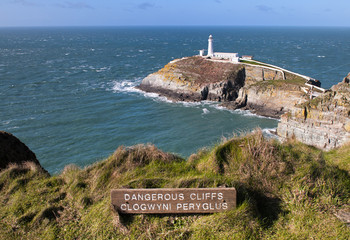 South Stack Lighthouse in Anglesey, Wales