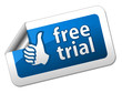 Free trial sticker
