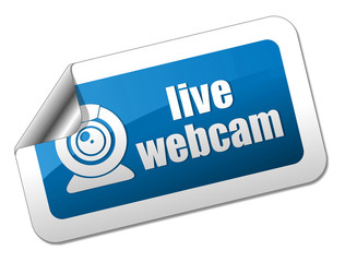 Live webcam sticker