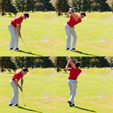 Golfer swing sequence poster