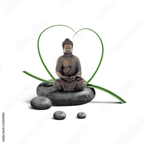 Bouddha sur Galets