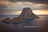The beautiful little island of Es Vedra at sunset in Ibiza
