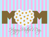 Happy Mothers Day with Daisy Flowers Heart