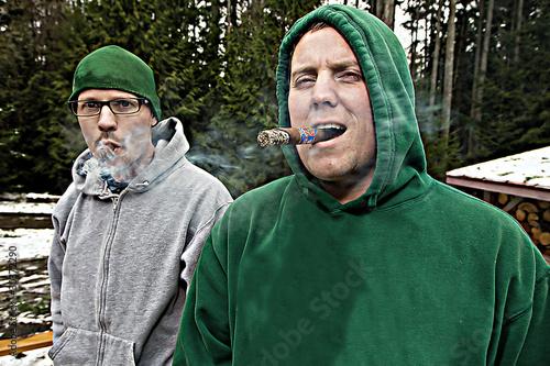 Men Smoking Cigars