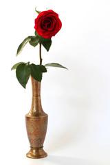 ваза с розой
